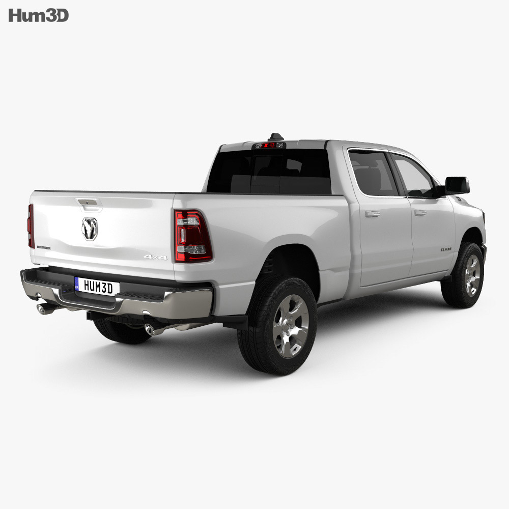 Dodge Ram 1500 Quad Cab Big Horn 6-foot 4-inch Box 2019 3d model