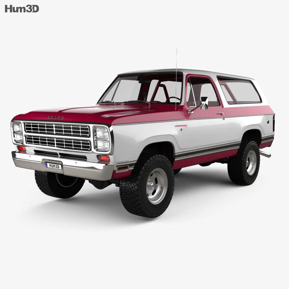 Dodge Ramcharger with HQ interior 1979 3d model
