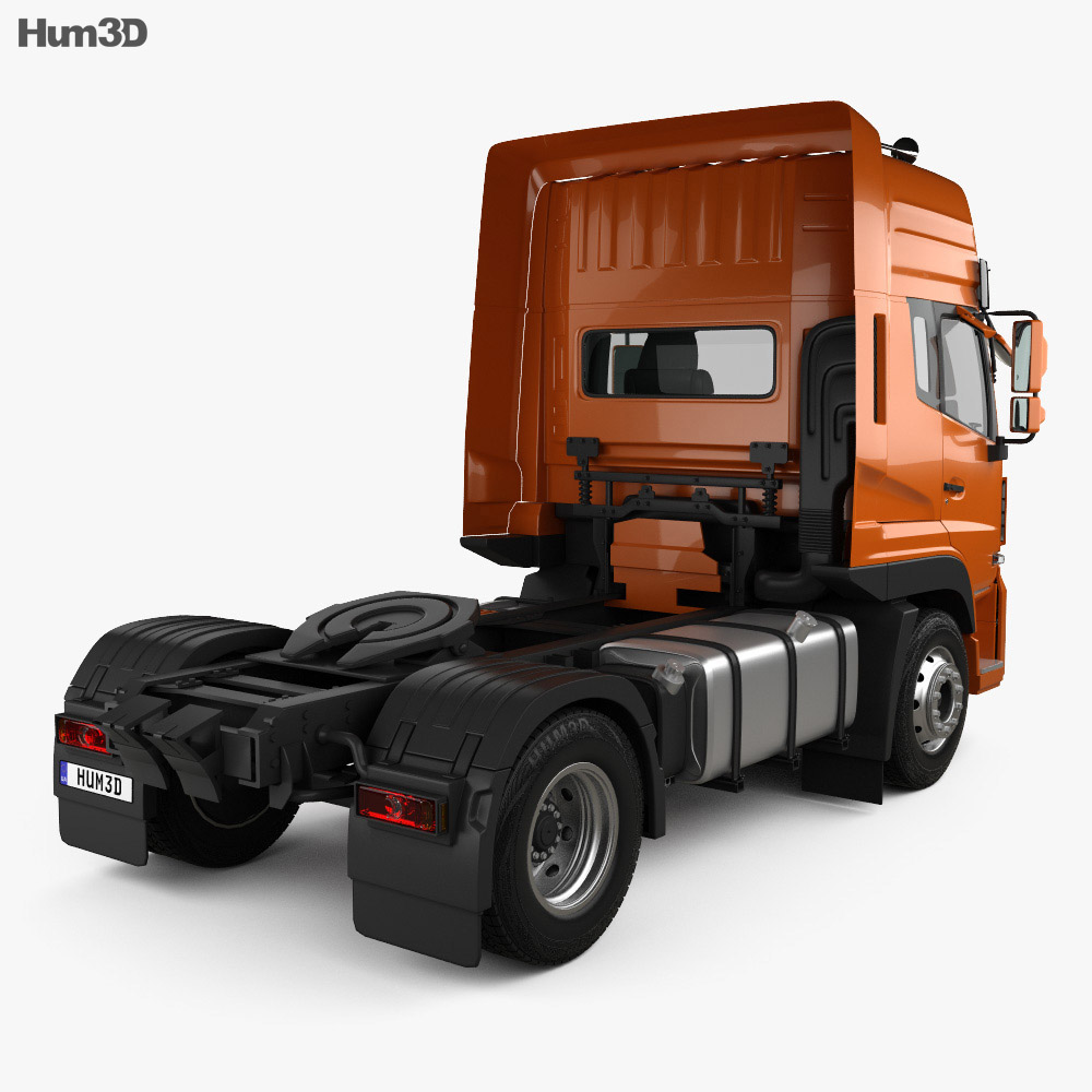 Dongfeng Denon Tractor Truck 2012 3d model back view