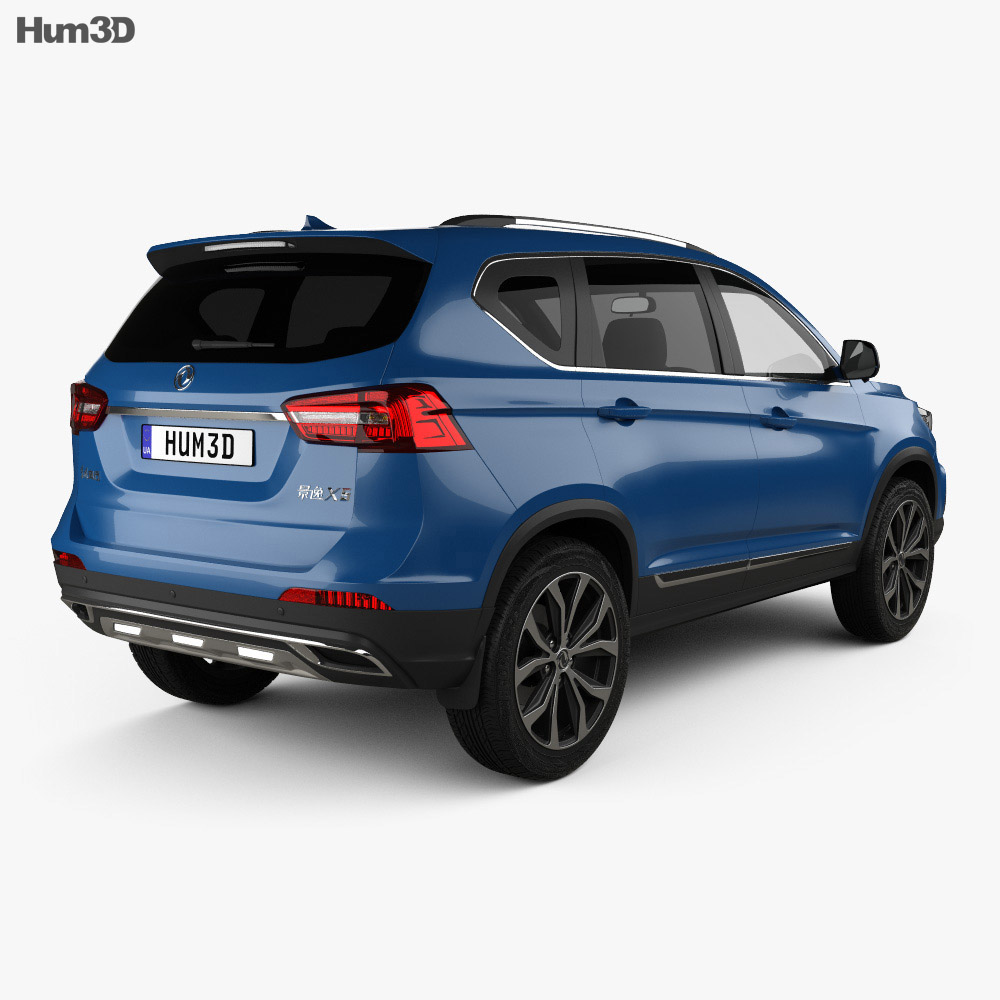 DongFeng Joyear X5 2016 3d model back view