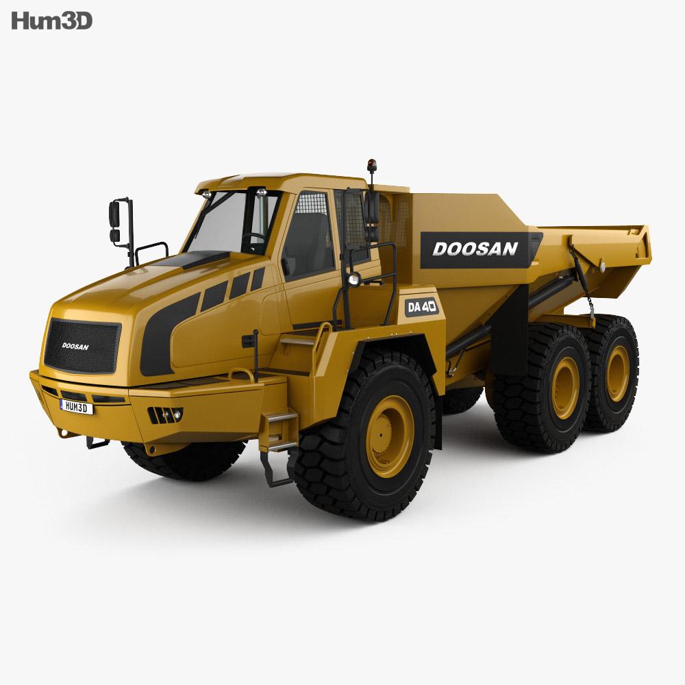 Doosan DA40 Dump Truck 2011 3d model