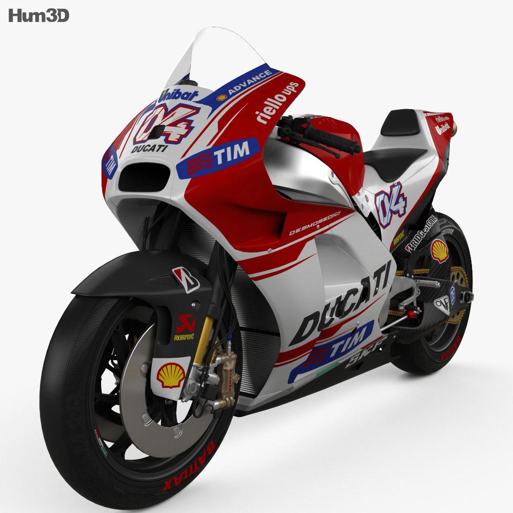 Ducati Desmosedici GP15 2015 3d model