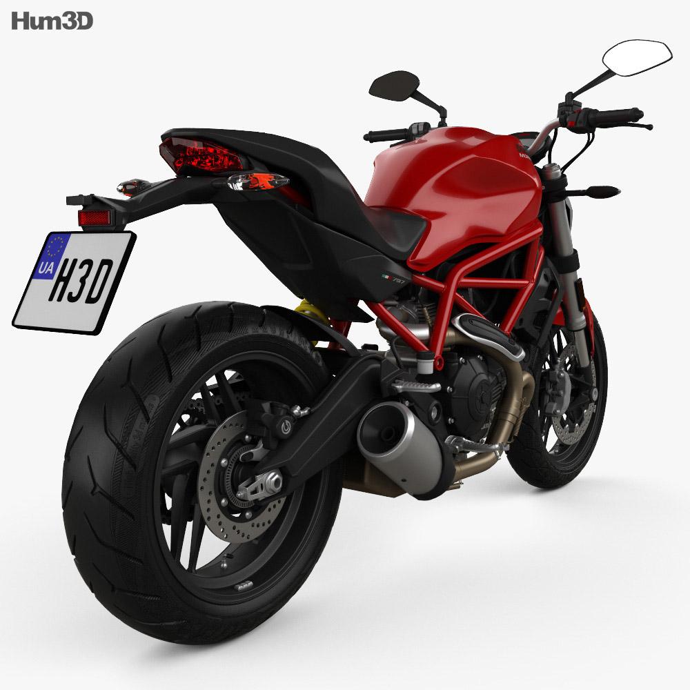 Ducati Monster 797 2018 3d model