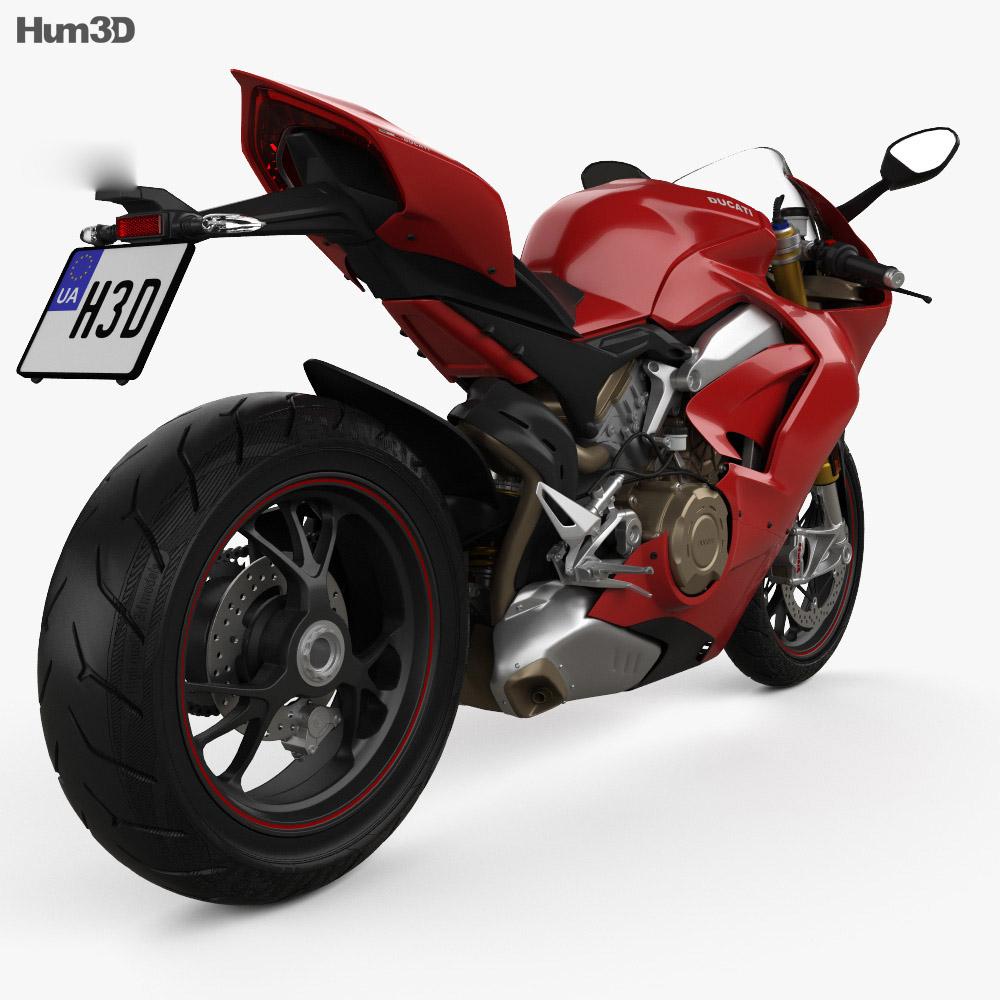 Ducati Panigale V4S 2018 3d model
