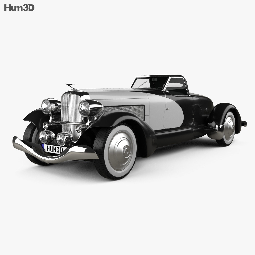 Duesenberg SJ Boattail Speedster 1933 3d model