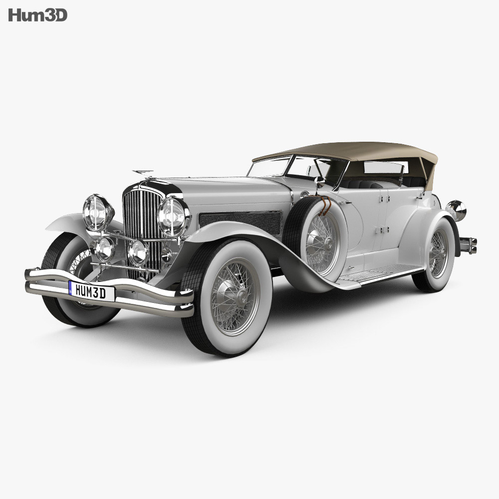 Duesenberg SJ Phaeton LWB LaGrande 1935 3d model
