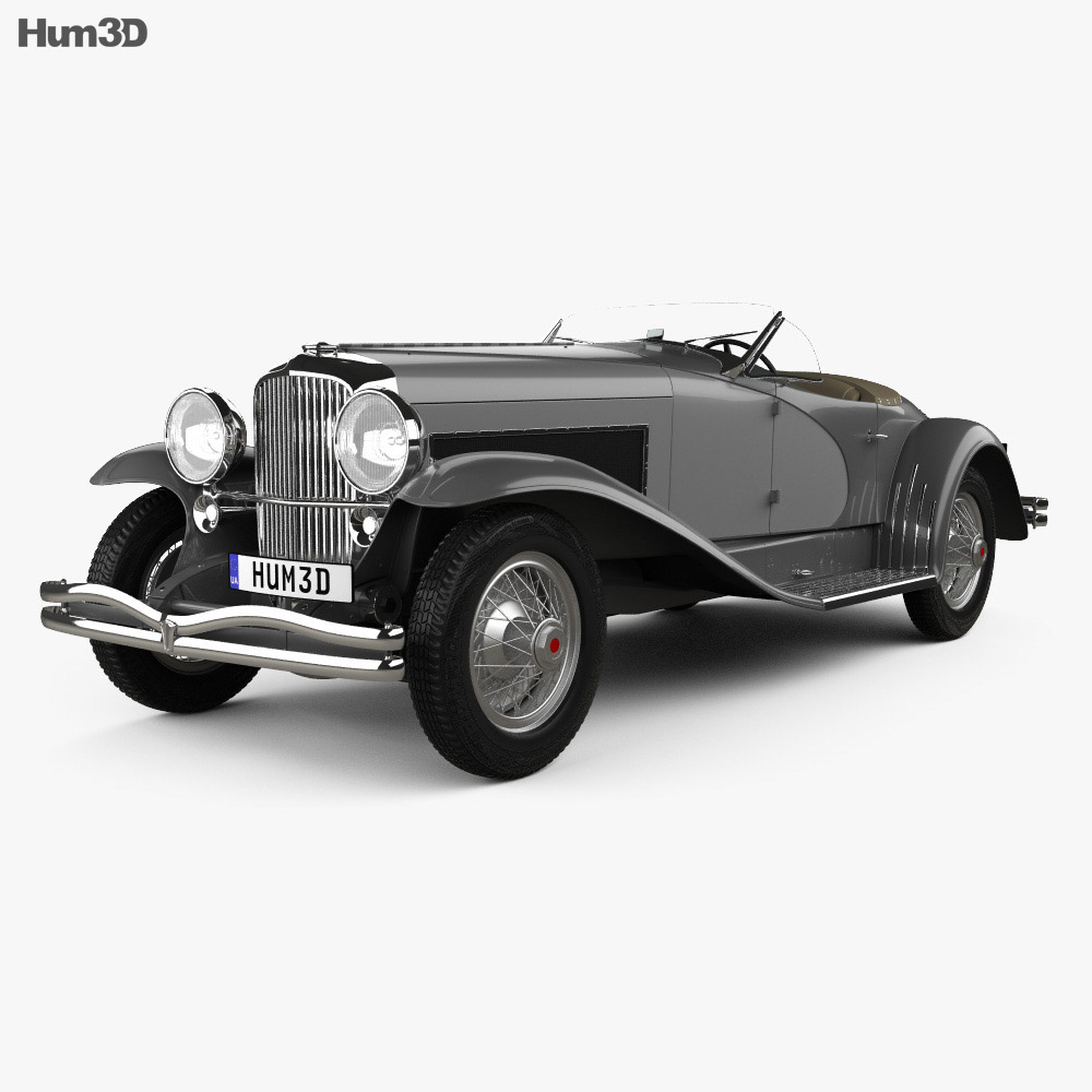 Duesenberg SSJ Roadster 1935 3d model