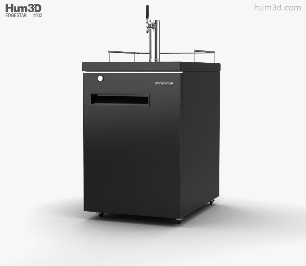 3D model of Edgestar ECK24BL1C Direct Draw Beverage Dispenser