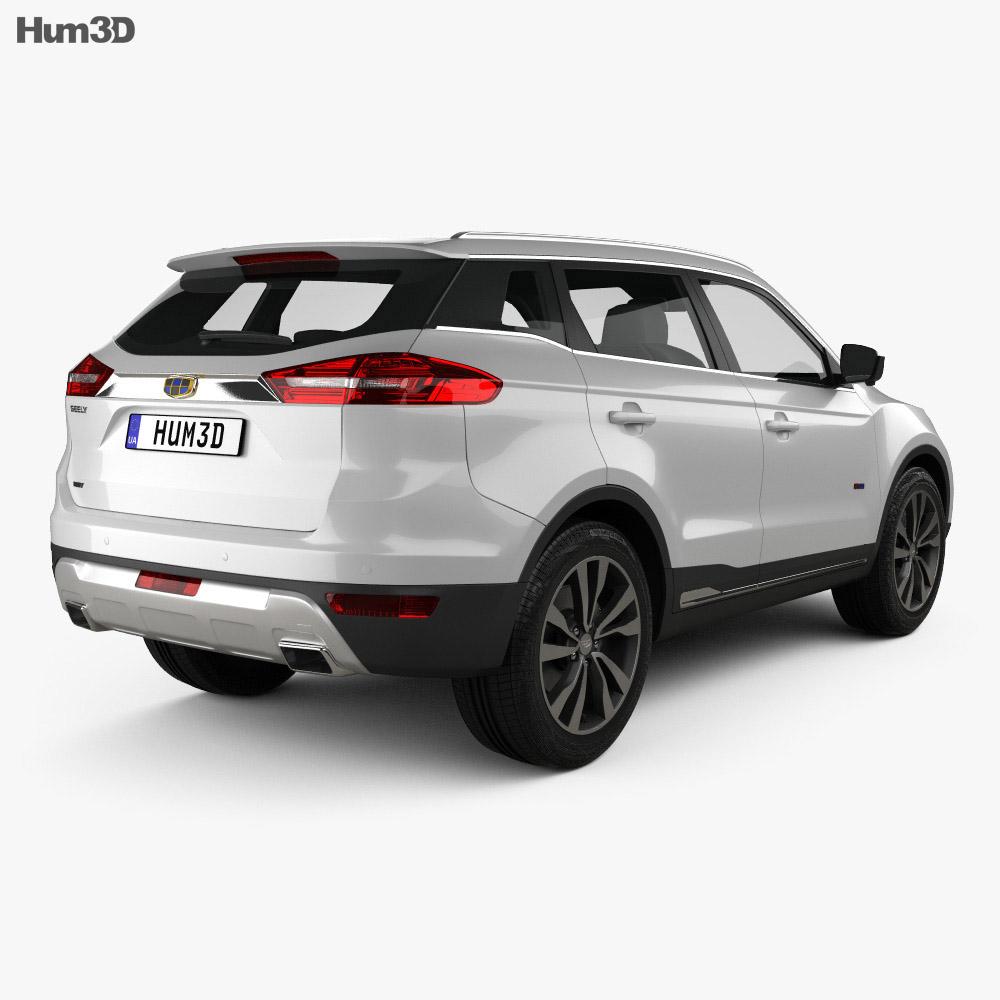 Emgrand Boyue 2016 3d model back view