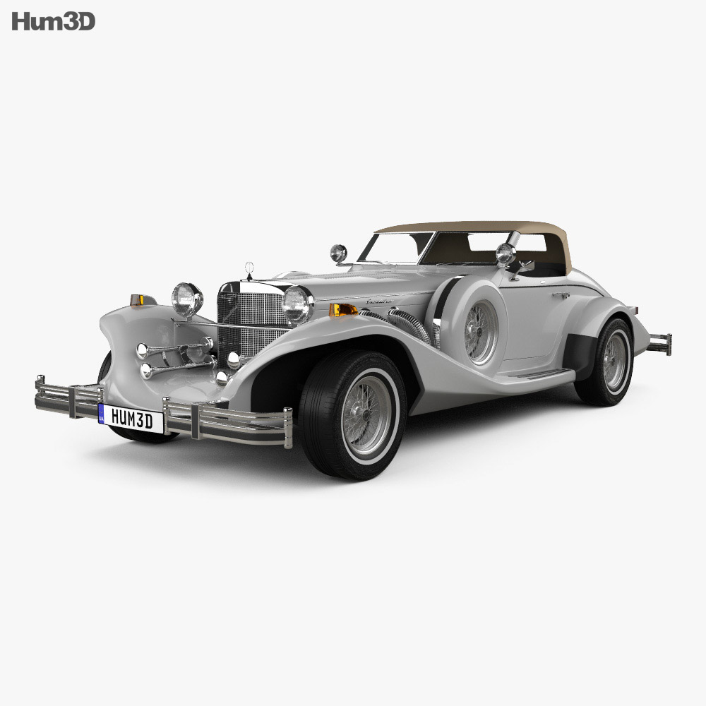 Excalibur Series IV Roadster 1980 3d model