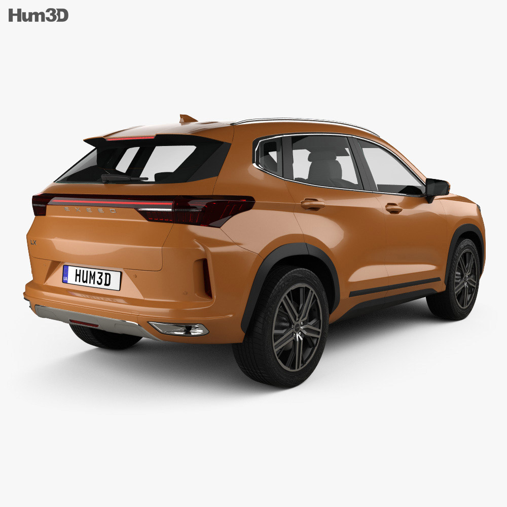 Exeed LX 2019 3d model back view
