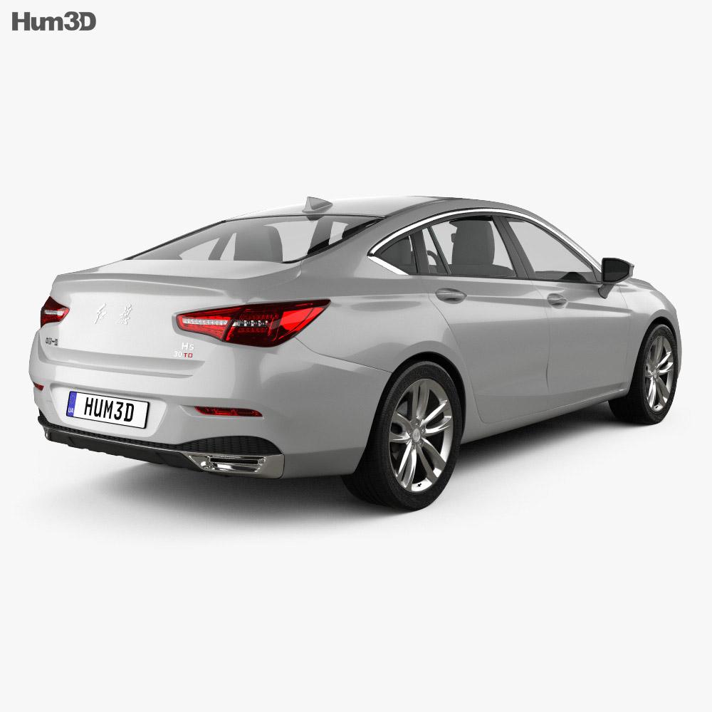 FAW Hongqi H5 2018 3d model
