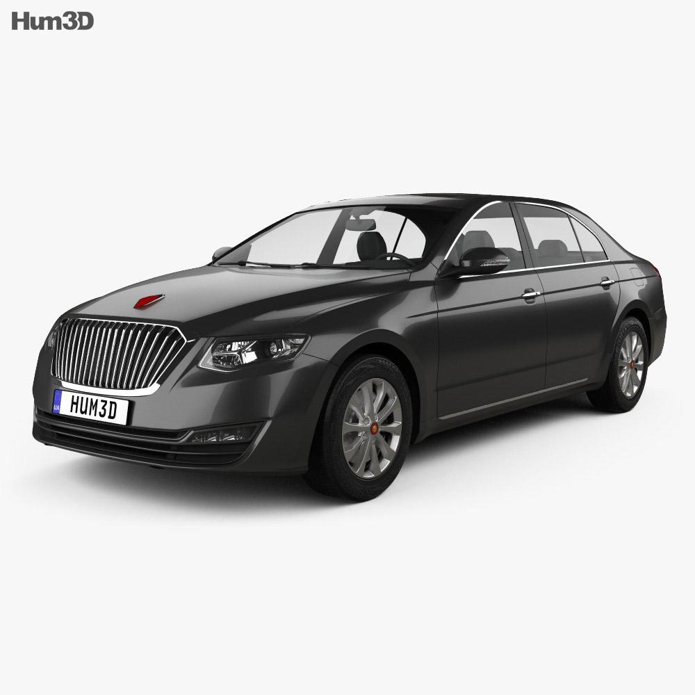 FAW Hongqi H7 2018 3d model