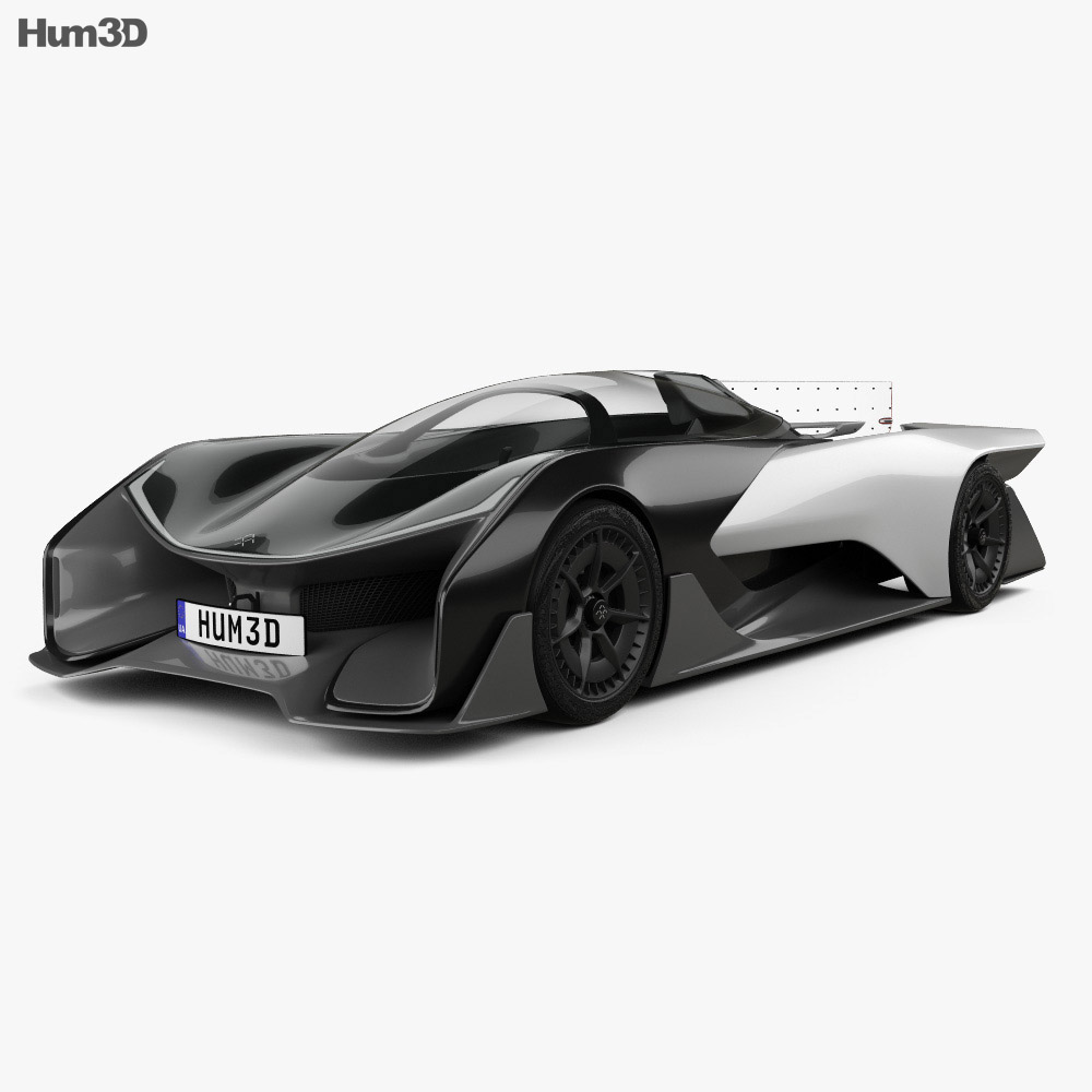 Faraday Future FFZERO1 2016 3d model