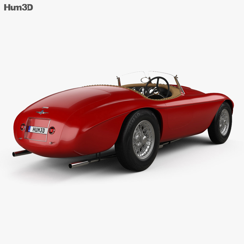 Ferrari 166 MM Barchetta 1948 3d model
