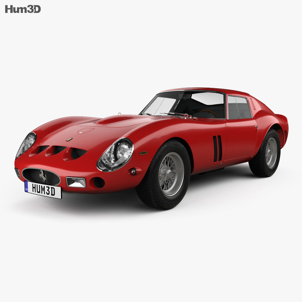 Ferrari 250 GTO (Series I) with HQ interior 1962 3d model