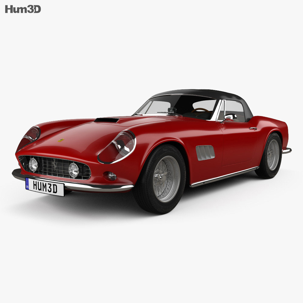 Ferrari 250 GT California SWB Spyder with HQ interior 1958 3d model