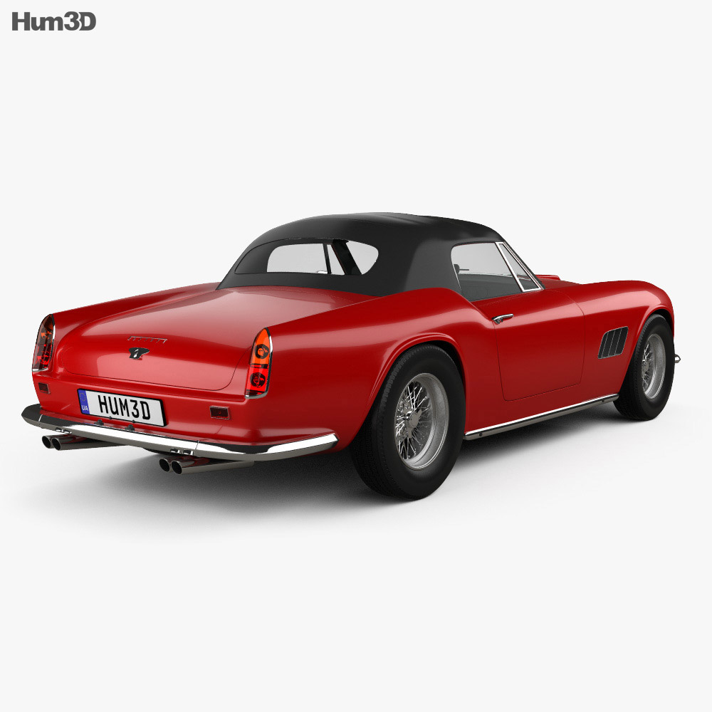 Ferrari 250 GT California Spider 1958 3d model