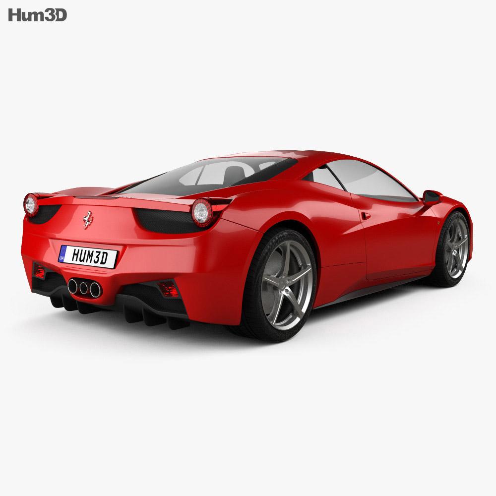 Ferrari 458 Italia 2011 3d model