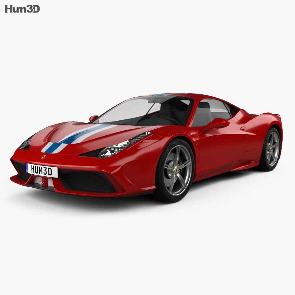 Ferrari 458 Speciale 2013 3d model
