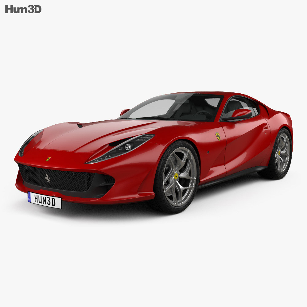 Ferrari 812 Superfast: Ferrari 812 Superfast 2017 3D Model