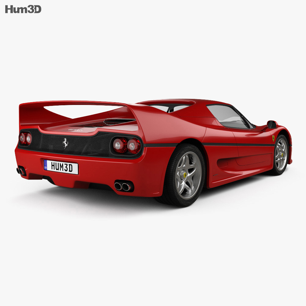 Ferrari F50 1995 3d model