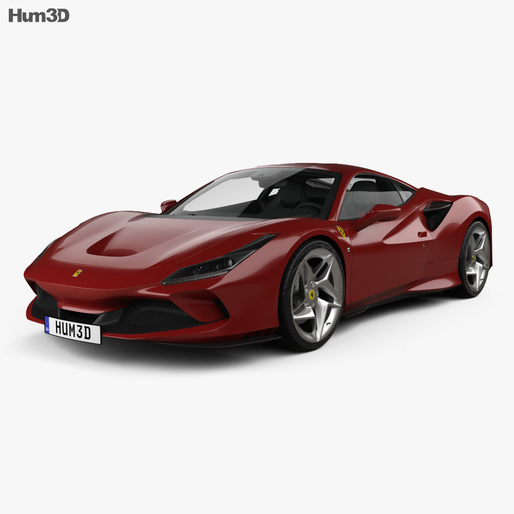 Ferrari F8 Tributo with HQ interior 2019 3d model