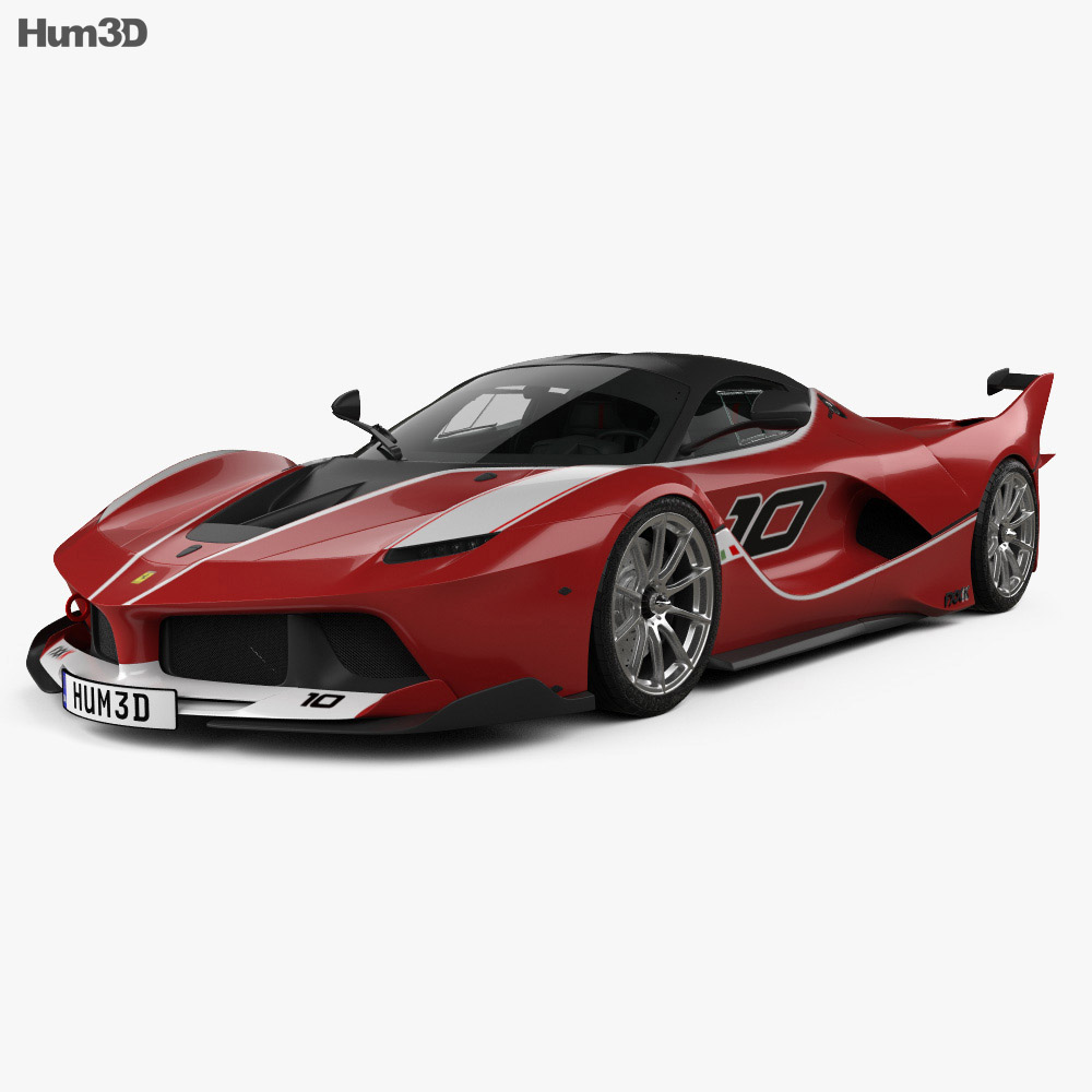 Ferrari FXX K with HQ interior 2015 3d model