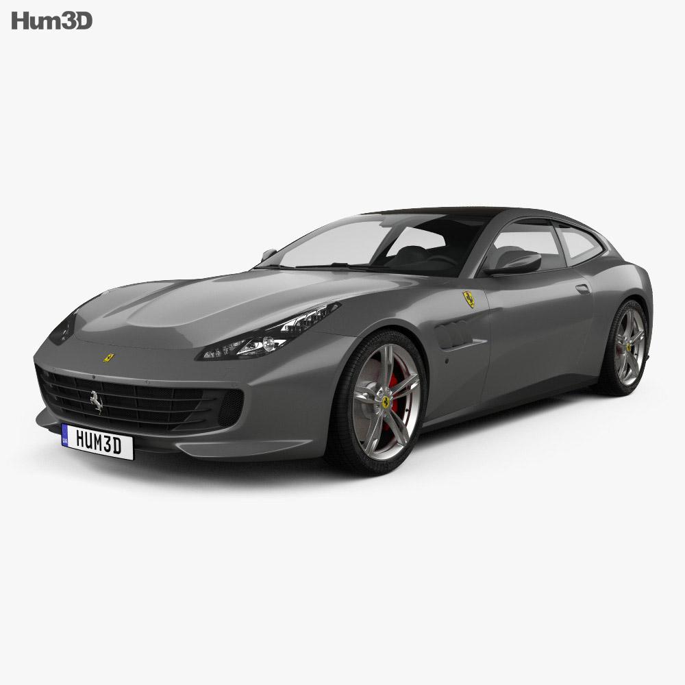 Ferrari GTC4Lusso 2017 3d model