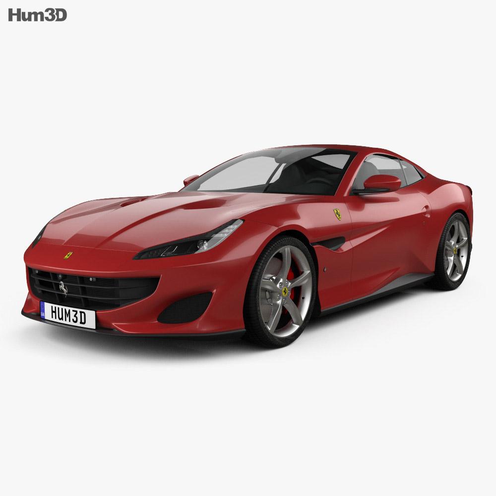 Ferrari Portofino 2018 3D model - Hum3D