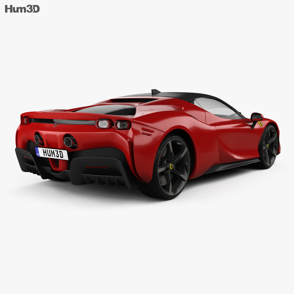 Ferrari SF90 Stradale 2020 3d model