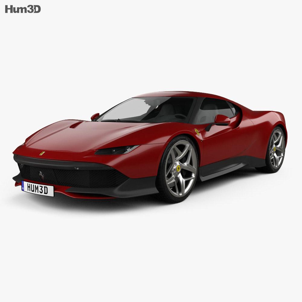 Ferrari SP38 2018 3d model