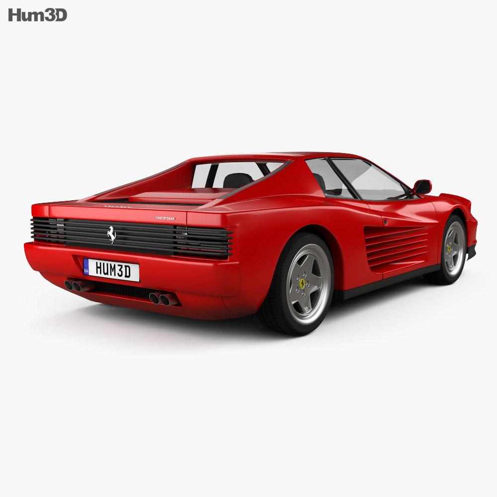 Ferrari Testarossa: Ferrari Testarossa 1986 3D Model