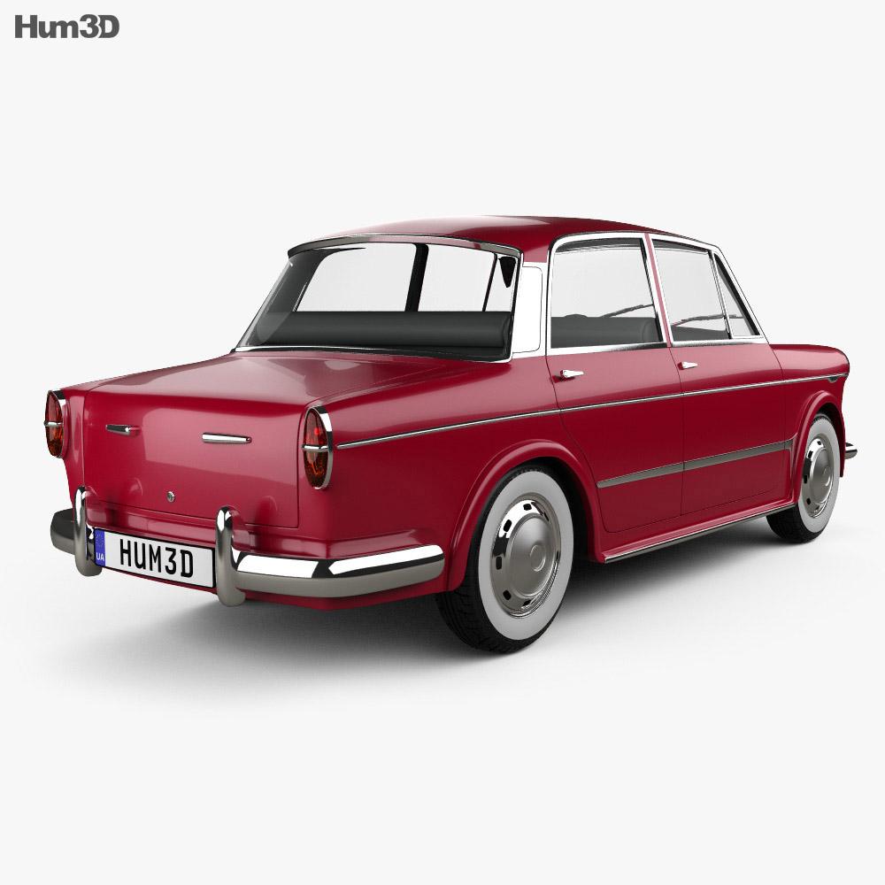Fiat 1200 Granluce 1957 3d model