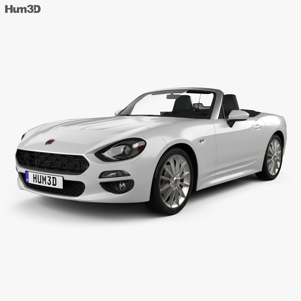 fiat 124 spider 2017 3d model - vehicles on hum3d