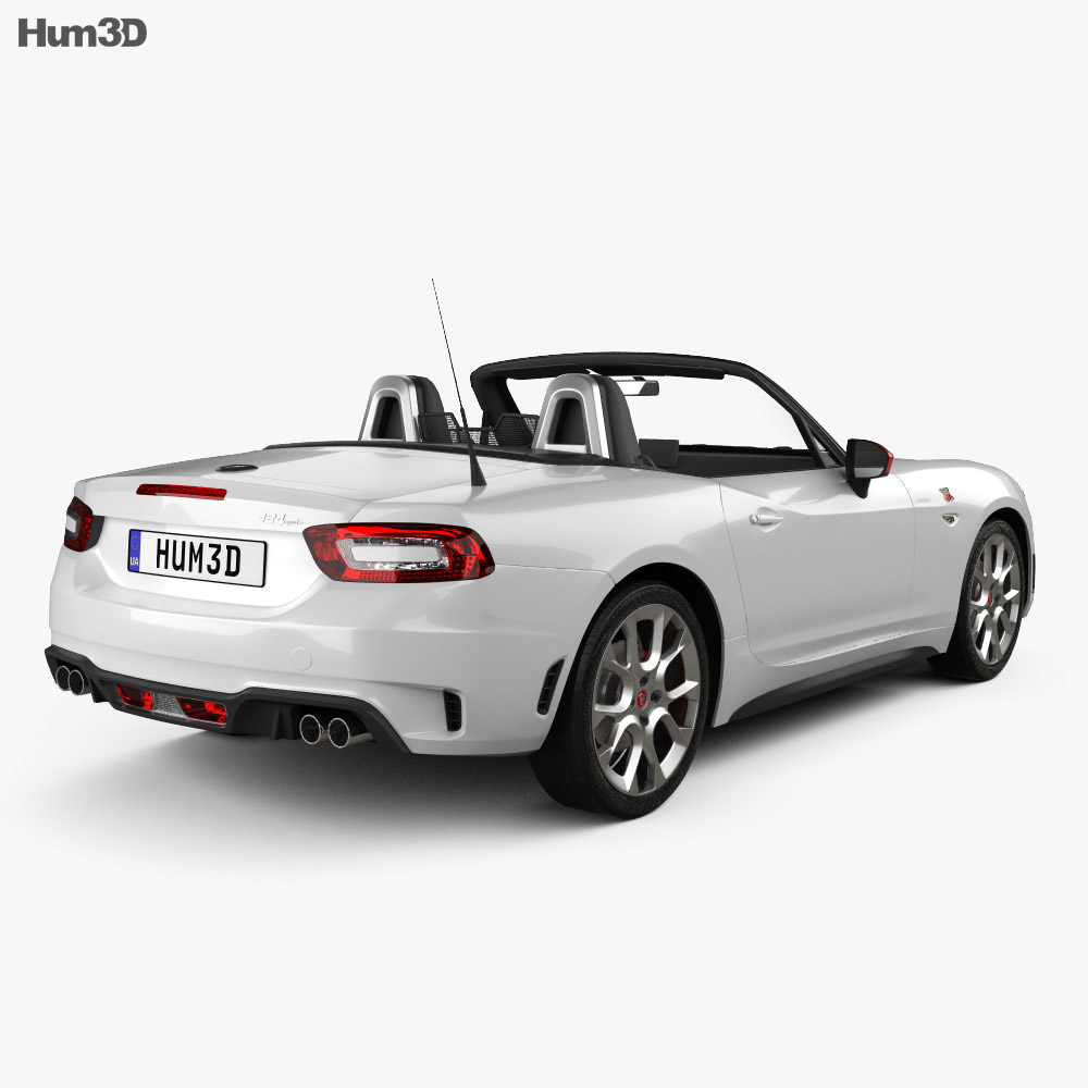 fiat 124 spider abarth 2017 3d model humster3d. Black Bedroom Furniture Sets. Home Design Ideas