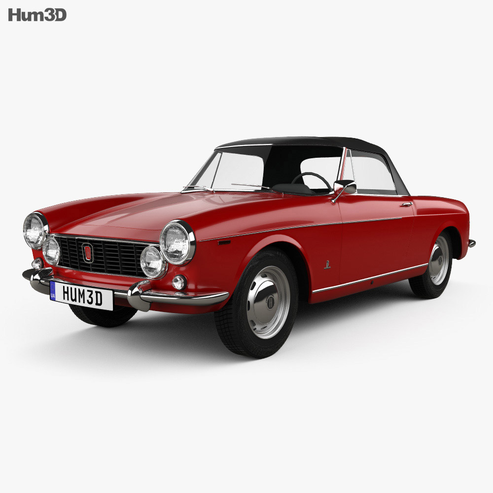 fiat 1600 s cabriolet 1963 3d model humster3d. Black Bedroom Furniture Sets. Home Design Ideas