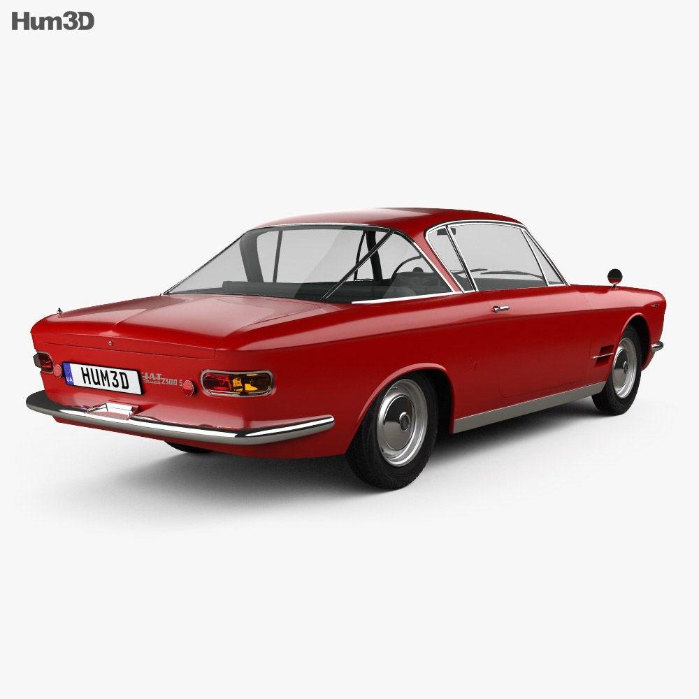 fiat 2300 s coupe 1961 3d model vehicles on hum3d. Black Bedroom Furniture Sets. Home Design Ideas