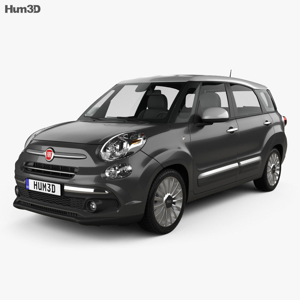 fiat 500l wagon 2017 3d model hum3d. Black Bedroom Furniture Sets. Home Design Ideas