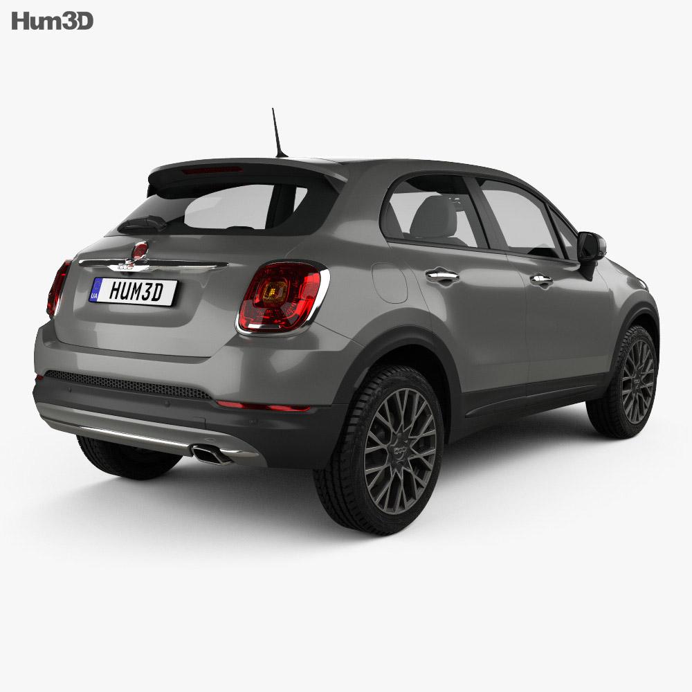 Fiat 500X 2015 3d model