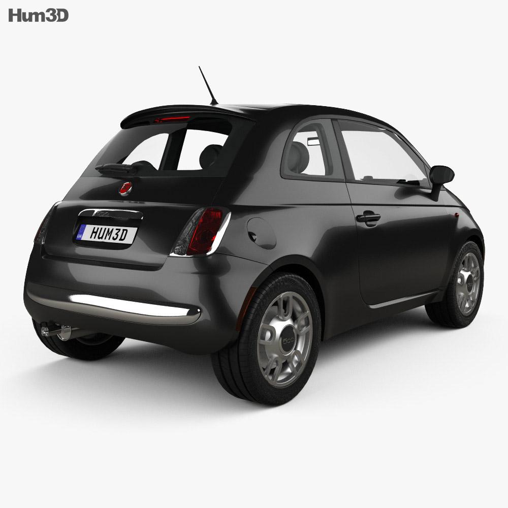 Fiat 500 Trendy 2015 3d model