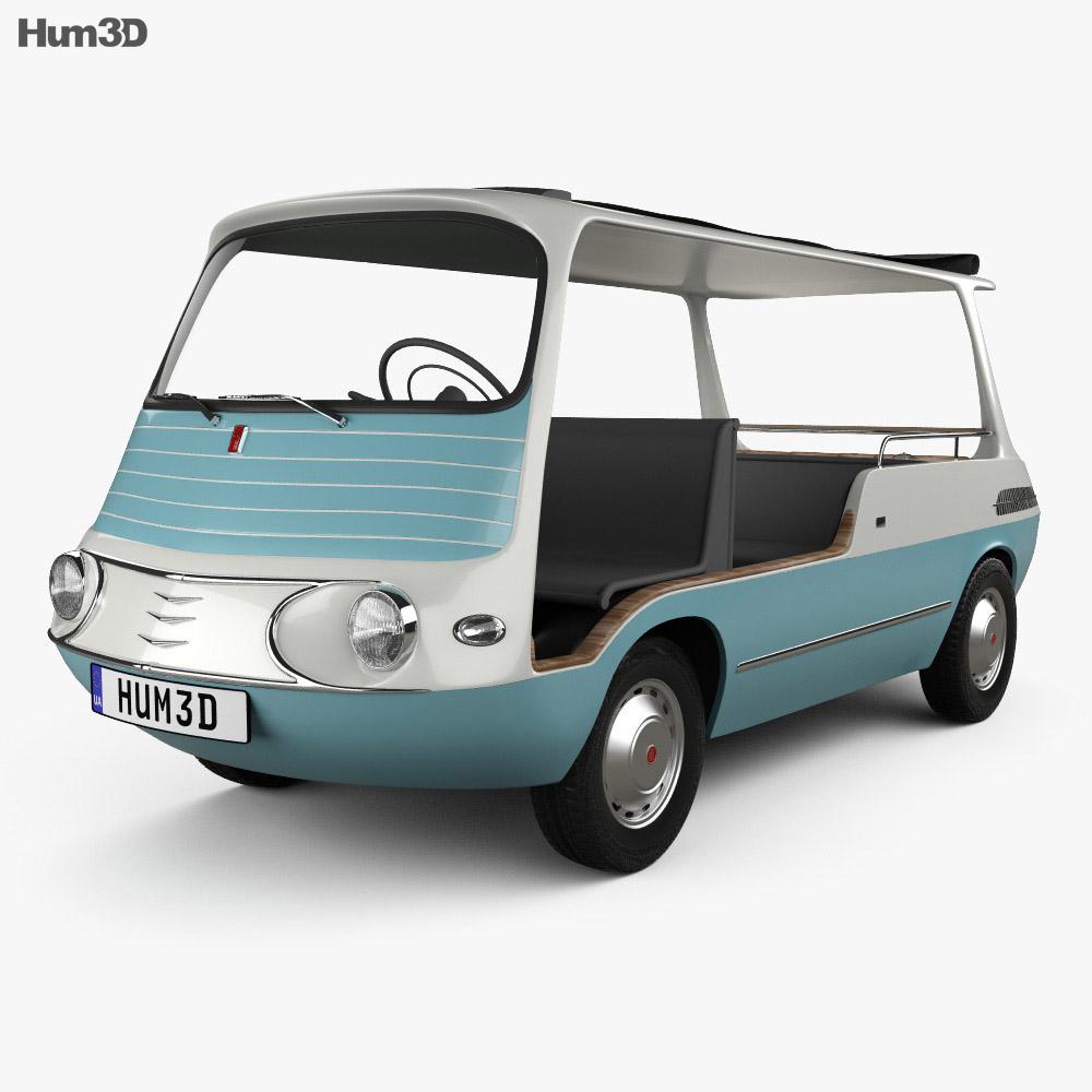 fiat 600 multipla marinella 1958 3d model hum3d. Black Bedroom Furniture Sets. Home Design Ideas