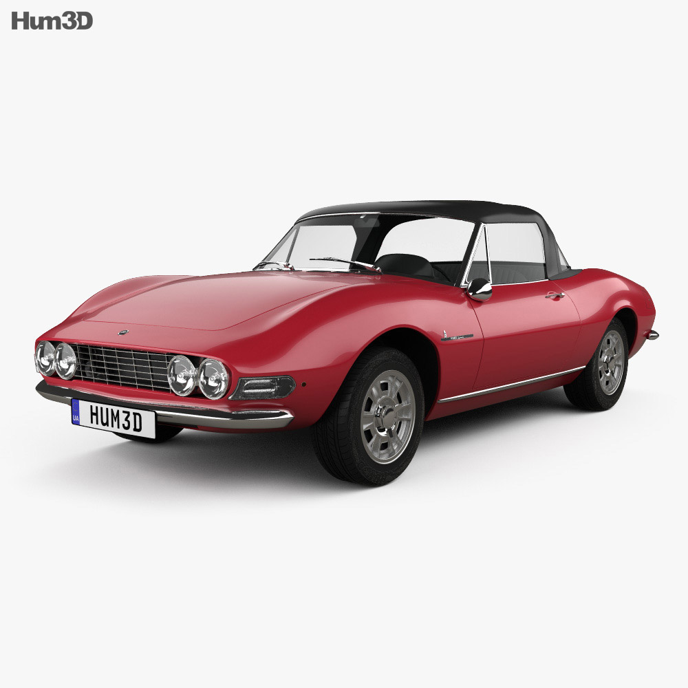 Fiat Dino Spider 2400 1969 3d model
