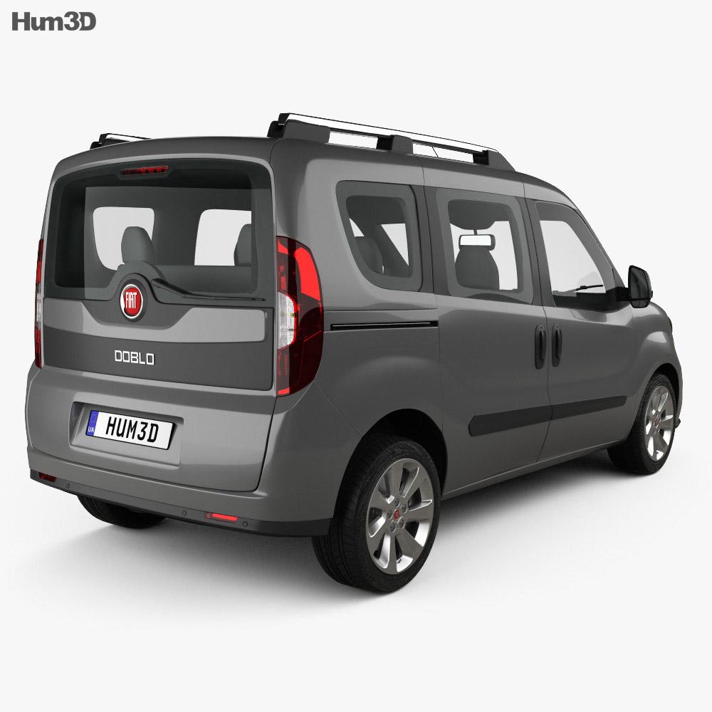Fiat Doblo Passenger L1H1 2015 3d model