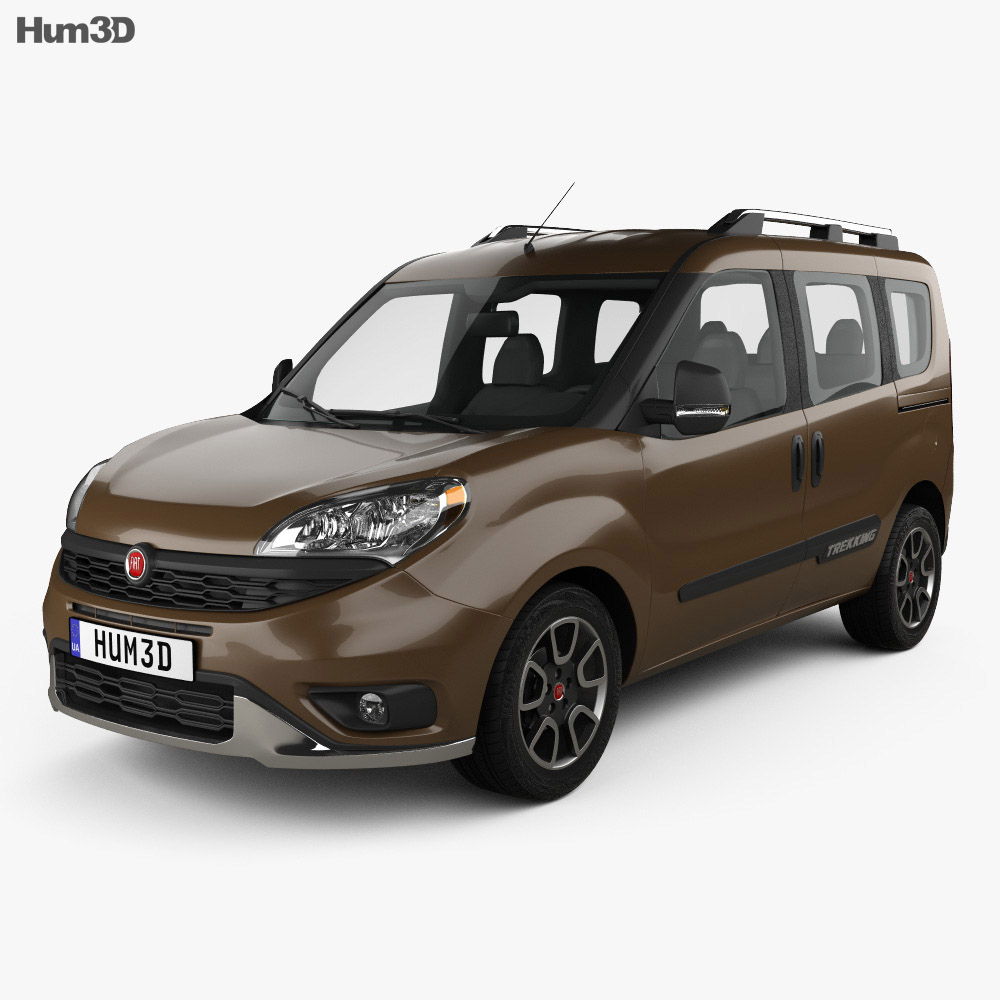 fiat doblo trekking 2015 3d model vehicles on hum3d. Black Bedroom Furniture Sets. Home Design Ideas