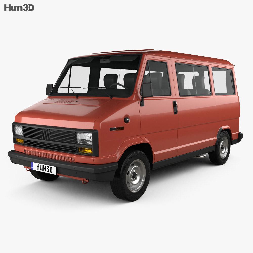 Discount Car Parts >> Fiat Ducato Passenger Van 1981 3D model - Humster3D