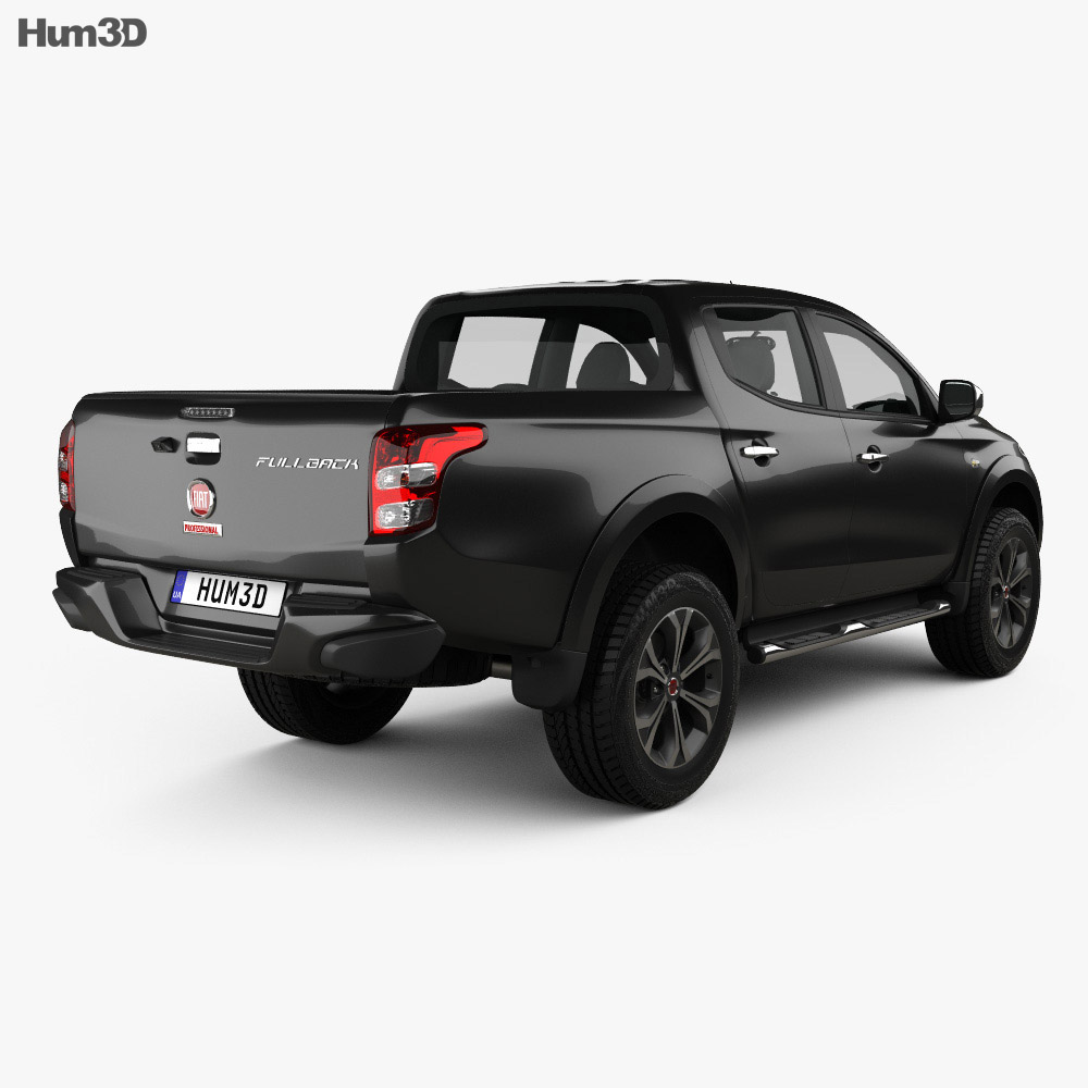 fiat fullback double cab 2016 3d model humster3d. Black Bedroom Furniture Sets. Home Design Ideas