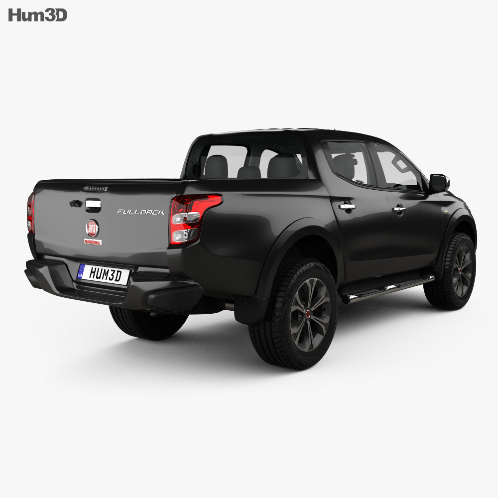 Fiat Fullback Double Cab with HQ interior 2016 3d model
