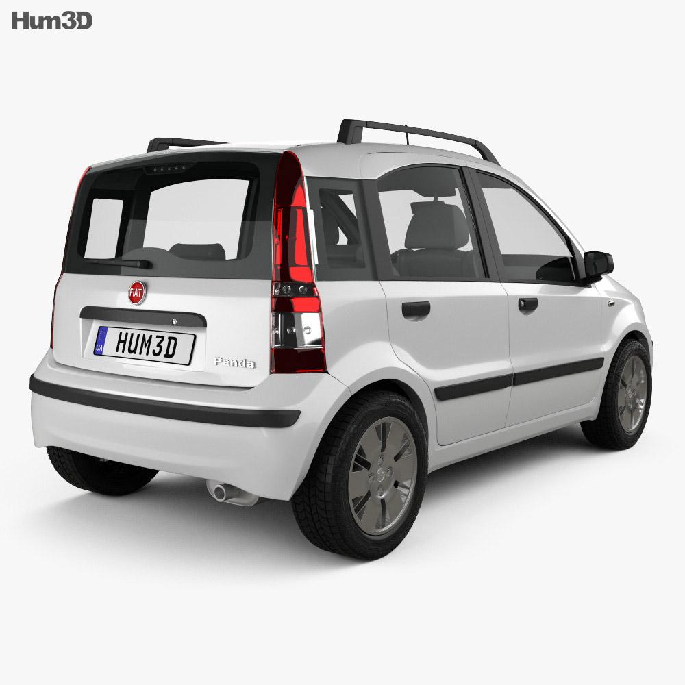 Fiat Panda 2009 3d model