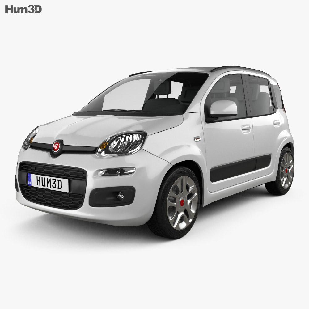 Fiat Panda 2012 3d model